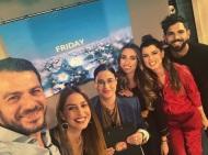 """Ο Γιώργος μαζί με την ομάδα του """"Όλα Καλά"""" όπου βρέθηκε για συνέντευξη στις 12 Οκτωβρίου 2018 Φωτογραφία: olakala_sigmatv Instagram"""
