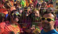 """Ο Γιώργος στη Λεμεσό κατά τη διάρκεια της εκδήλωσης """"Run in Colour"""" που έγινε στις 13 Οκτωβρίου 2018 Φωτογραφία: anastasia.moulazimi Instagram"""