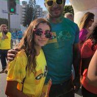 """Ο Γιώργος στη Λεμεσό κατά τη διάρκεια της εκδήλωσης """"Run in Colour"""" που έγινε στις 13 Οκτωβρίου 2018 Φωτογραφία: andreaax__ Instagram"""