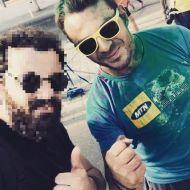 """Ο Γιώργος στη Λεμεσό κατά τη διάρκεια της εκδήλωσης """"Run in Colour"""" που έγινε στις 13 Οκτωβρίου 2018 Φωτογραφία: andrechrismusic Instagram"""