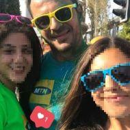 """Ο Γιώργος στη Λεμεσό κατά τη διάρκεια της εκδήλωσης """"Run in Colour"""" που έγινε στις 13 Οκτωβρίου 2018 Φωτογραφία: rena_papademetriou Instagram"""