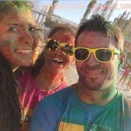 """Ο Γιώργος στη Λεμεσό κατά τη διάρκεια της εκδήλωσης """"Run in Colour"""" που έγινε στις 13 Οκτωβρίου 2018 Φωτογραφία: marina_pana Instagram"""