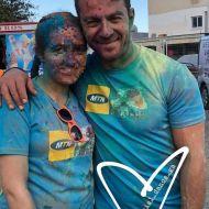 """Ο Γιώργος στη Λεμεσό κατά τη διάρκεια της εκδήλωσης """"Run in Colour"""" που έγινε στις 13 Οκτωβρίου 2018 Φωτογραφία: panagiota_ch10 Instagram"""
