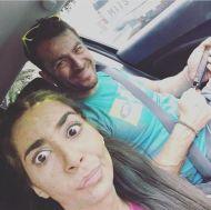 """Ο Γιώργος μαζί με μία από τις διοργανώτριες της εκδήλωσης """"Run in Color"""" στη Λεμεσό κατά τη διάρκεια της εκδήλωσης - 13 Οκτωβρίου 2018 Φωτογραφία: poppyaristidou Instagram"""