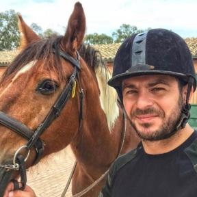 Ο Γιώργος μαζί με την Αρλήν στην Κύπρο εν μέσω της προπόνησης που κάνει - 24 Οκτωβρίου 2018 Φωτογραφία: official_danos_ga Instagram