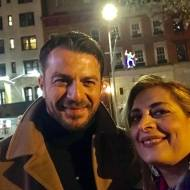 """Ο Γιώργος μαζί με την Αλέξια στην πρεμιέρα του ντοκιμαντέρ """"Olympia"""" στο Φεστιβάλ Ντοκιμαντέρ Νέας Υόρκης - 11 Νοεμβρίου 2018 Φωτογραφία: Alexia Vassiliou - Αλέξια Βασιλείου Facebook"""