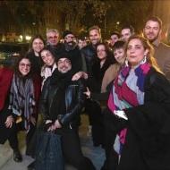 """Ο Γιώργος μαζί με την Αλέξια και τους υπόλοιπους συντελεστές στην πρεμιέρα του ντοκιμαντέρ """"Olympia"""" στο Φεστιβάλ Ντοκιμαντέρ Νέας Υόρκης - 11 Νοεμβρίου 2018 Φωτογραφία: Alexia Vassiliou - Αλέξια Βασιλείου Facebook"""
