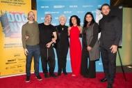 """Ο Γιώργος με την Ολυμπία Δουκάκη και την ομάδα του """"Olympia"""" στην πρεμιέρα του ντοκιμαντέρ """"Olympia"""" στο Φεστιβάλ Ντοκιμαντέρ της Νέας Υόρκης - 11 Νοεμβρίου 2018 Φωτογραφία: Lou Aguilar flickr"""