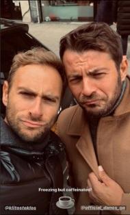 Ο Γιώργος σε έξοδο για καφέ με τον Κλείτο Τέκλο στη Νέα Υόρκη - 18 Νοεμβρίου 2018 Φωτογραφία: klitosteklos Instagram