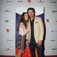 """Ο Γιώργος μαζί με την ηθοποιό Κωνσταντίνα Κλαψινού κατά τη διάρκεια της εκδήλωσης """"Οι ήρωες της Digea"""" - 24 Νοεμβρίου 2018 Φωτογραφία: Digea Facebook"""