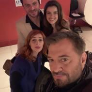 """Ο Γιώργος μαζί με τους Μαρία Κωνσταντάκη, Κωνσταντίνα Κλαψινού και Χρήστο Φερεντίνο κατά τη διάρκεια της εκδήλωσης """"Οι ήρωες της Digea"""" - 24 Νοεμβρίου 2018 Φωτογραφία: ferentinos_christos Instagram"""