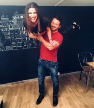 """Ο Γιώργος μαζί με τη Γεωργία Γεωργίου κατά τη συνέντευξή του στην εκπομπή """"Στη φωλιά των Κου Κου"""" στις 29 Νοεμβρίου 2018 Φωτογραφία: geo__georgiou Instagram"""
