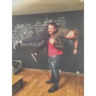 """Ο Γιώργος μαζί με τον Γιώργο Κρικοριάν κατά τη συνέντευξή του στην εκπομπή """"Στη φωλιά των Κου Κου"""" στις 29 Νοεμβρίου 2018 Φωτογραφία: giorgos_krikorian Instagram"""