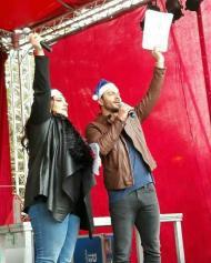 """Ο Γιώργος και η Κατερίνα στην """"Επέλαση των Ξωτικών"""" στο Γκάζι την 1η Δεκεμβρίου 2018 Φωτογραφία: dimitra.sid_ via valentini_danostatouaz Instagram"""