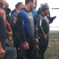 """Ο Γιώργος στην εκδήλωση """"Κολυμπώ με τους Ο.Υ.Κ. για τους μικρούς ήρωες"""" στη Λεμεσό - 22 Δεκεμβρίου 2018 Φωτογραφία: 1mara_costa IG"""
