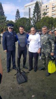 """Ο Γιώργος στην εκδήλωση """"Κολυμπώ με τους Ο.Υ.Κ. για τους μικρούς ήρωες"""" στη Λεμεσό - 22 Δεκεμβρίου 2018 Φωτογραφία: ZACHARIASCHRYS2 twitter"""