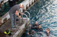 """Ο Γιώργος στην εκδήλωση """"Κολυμπώ με τους Ο.Υ.Κ. για τους μικρούς ήρωες"""" στη Λεμεσό - 22 Δεκεμβρίου 2018 Φωτογραφία: alphanews.live"""