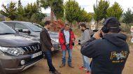 Ο Γιώργος με τον Βασίλη Σαρημπαλίδη στο Attart Off Road Park για τα γυρίσματα της Mitsubishi με το L200 - 23 Νοεμβρίου 2018 Φωτογραφία: Vasilios Saribalidis Facebook
