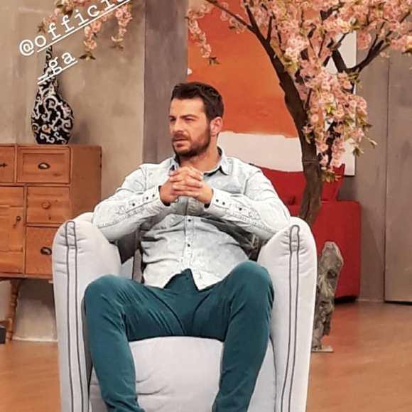 """Ο Γιώργος στην εκπομπή """"Το Πρωινό"""" όπου βρέθηκε για συνέντευξη στις 10 Ιανουαρίου 2018 Φωτογραφία: elena_gerarhaki Instagram"""