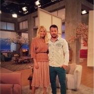 """Ο Γιώργος και η Φαίη στην εκπομπή """"Το Πρωινό"""" όπου βρέθηκε για συνέντευξη στις 10 Ιανουαρίου 2018 Φωτογραφία: elena_gerarhaki Instagram"""