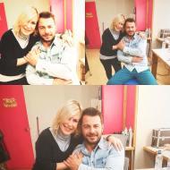 """Ο Γιώργος backstage της εκπομπής """"Το Πρωινό"""" όπου βρέθηκε για συνέντευξη στις 10 Ιανουαρίου 2018 Φωτογραφία: zaniavour Instagram"""