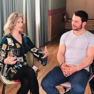 Ο Γιώργος με τη δημοσιογράφο Ιφιγένεια Τσαντίλη κατά τη διάρκεια της συνέντευξής του για το Body in Balance - 9-10 Μαρτίου 2019 Φωτογραφία: Body in Balance Greece Facebook