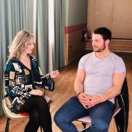 Ο Γιώργος με τη δημοσιογράφο Ιφιγένεια Τσαντίλη κατά τη διάρκεια της συνέντευξής του για το Body in Balance - 9-10 Μαρτίου 2019 Φωτογραφία: bodyinbalance.greektv Instagram