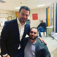 Ο Γιώργος μαζί με φαν στο συνέδριο κατά του bulling στη Θεσσαλονίκη όπου ήταν ένας από τους ομιλητές - 4 Μαρτίου 2019 Φωτογραφία: andreaskatsaros Instagram
