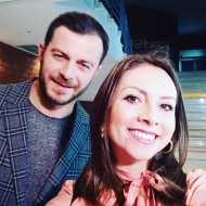 Ο Γιώργος με τη δημοσιογράφο Μένια Κούκου στην ημερίδα του Πάντειου Πανεπιστημίου με θέμα τις κοινωνικές και οικονομικές συνιστώσες που έχουν τα Reality και τα Talent Shows - 22 Μαρτίου 2019 Φωτογραφία: menia_koukou Instagram