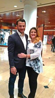 Ο Γιώργος μαζί με φαν στο συνέδριο κατά του bulling στη Θεσσαλονίκη όπου ήταν ένας από τους ομιλητές - 4 Μαρτίου 2019 Φωτογραφία: vassoskg Instagram