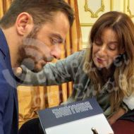 Ο Γιώργος κατά την παρουσίαση του βιβλίου του στον Βόλο που έγινε στις 17 Απριλίου 2019 Φωτογραφία: Ότι συμβαίνει στη Σκιάθο Facebook