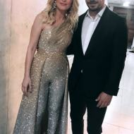 Ο Γιώργος με τη Νατάσα Θεοδωρίδου στα βραβεία Madame Figaro - Γυναίκες της χρονιάς για το 2019 - 16 Απριλίου 2019 Φωτογραφία; harislebi Instagram