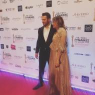 Ο Γιώργος με τη Μαριλένα Ιεροδιακόνου στα βραβεία Madame Figaro - Γυναίκες της χρονιάς για το 2019 - 16 Απριλίου 2019 Φωτογραφία; madamefigarocyprus Instagram