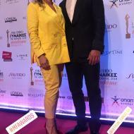 Ο Γιώργος με τη Μαρίτα Βασιλείου στα βραβεία Madame Figaro - Γυναίκες της χρονιάς για το 2019 - 16 Απριλίου 2019 Φωτογραφία; maritavassiliou Instagram