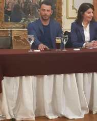 Ο Γιώργος κατά την παρουσίαση του βιβλίου του στον Βόλο που έγινε στις 17 Απριλίου 2019 Φωτογραφία: _ntanosforthewin Instagram
