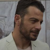 Ο Γιώργος στην παρουσίαση του βιβλίου του που έγινε στις 18 Απριλίου 2019 στη Λάρισα Φωτογραφία: onlarissa.gr