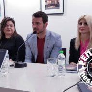 Ο Γιώργος κατά τη διάρκεια της παρουσίασης του βιβλίου του στο βιβλιοπωλείο ΙΑΝΟΣ στη Θεσσαλονίκη που έγινε στις 6 Απριλίου 2019 Φωτογραφία: thesstoday.gr