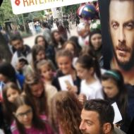 """Ο Γιώργος στην παρουσίαση του βιβλίου του """"Ντάνος: Μια αφήγηση στην Αυγή Σαββίδου"""" στην Κατερίνη - 4 Μαΐου 2019 Φωτογραφία: akis.passaris Instagram"""