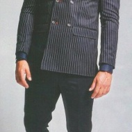 Η φωτογράφιση του Γιώργου ως βασικό πρόσωπο της κολεξιόν Άνοιξη - Φθινόπωρο 2019 του Νίκου Αποστολόπουλου Φωτογραφία: Γιώργος Μεστούσης