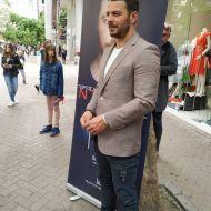 """Ο Γιώργος στην παρουσίαση του βιβλίου του """"Ντάνος: Μια αφήγηση στην Αυγή Σαββίδου"""" στην Κατερίνη - 4 Μαΐου 2019 Φωτογραφία: danos_my_hero Instagram"""