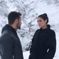 """Ο Γιώργος και η Εύη Ιωαννίδου κατά τη διάρκεια των γυρισμάτων του video clip του τραγουδιού του Κώστα Αγέρη """"Για σένα πατρίδα μου"""" για τον Πόντο Φωτογραφία: Erotokritos Savvidis Facebook"""