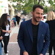 """Ο Γιώργος στην παρουσίαση του βιβλίου του """"Ντάνος: Μια αφήγηση στην Αυγή Σαββίδου"""" που έγινε στην Καλαμάτα - 10 Μαΐου 2019 Φωτογραφία: thanassispoulopoulos Instagram"""