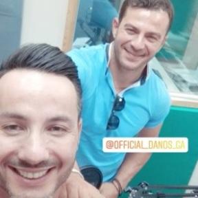 Ο Γιώργος κατά τη διάρκεια της συνέντευξής του στο Smart Radio στις 21 Ιουνίου 2019 Φωτογραφία: nikos_maltezakis Instagram