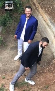 """Ο Γιώργος στην απονομή του πλατινένιου """"Κάτι παραπάνω"""" του Κωνσταντίνου Αργυρού - 24 Ιουνίου 2019 Φωτογραφία: harislebi Instagram"""