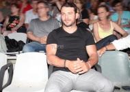 """Ο Γιώργος στην πρεμιέρα της παράστασης """"Κατά φαντασίαν ασθενής"""" στο Κατράκειο Θέατρο - 3 Ιουλίου 2019 Φωτογραφία: TLife"""