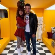 """Ο Γιώργος μαζί με τη Ματίνα Νικολάου στην εκπομπή """"Καλό Μεσημεράκι"""" - 21 Οκτωβρίου 2019 Φωτογραφία: matinanikolaou Instagram"""