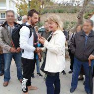 """Ο Γιώργος με τη δημοσιογράφο Ράνια Πάνου του """"Ό,τι συμβαίνει στη Σκιάθο"""", στη Σκιάθο για τη γιορτή της Παναγίας της Εικονίστριας - 21 Νοεμβρίου 2019 Φωτογραφία: Ράνια Πάνου FB (Ό,τι συμβαίνει στη Σκιάθο)"""