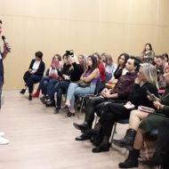 Ο Γιώργος κατά τη διάρκεια της ομιλίας του στο εργαστήριο του Job Festival 2019 στη Θεσσαλονίκη - 8 Νοεμβρίου 2019 Φωτογραφία: elkourn Instagram