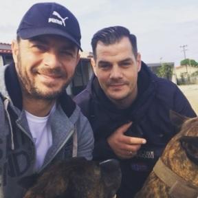 Ο Γιώργος μαζί με τον αδελφό του Χάρη στη Σκιάθο (guest stars: Ίρμα και Βίλτορ) - 21 Νοεμβρίου 32019 Φωτογραφία: official_danos_ga IG