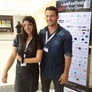 Ο Γιώργος μαζί με φαν στο Job Festival Θεσσαλονίκης 2019 - 8 Νοεμβρίου 2019 Φωτογραφία: sophie_perp Instagram